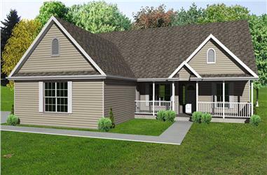 This is another computer rendering of these Ranch House Plans
