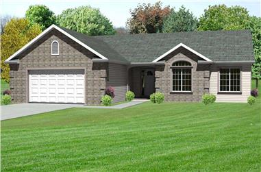 3-Bedroom, 1638 Sq Ft Country House Plan - 148-1043 - Front Exterior