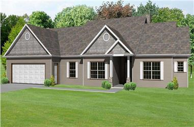 3-Bedroom, 2082 Sq Ft Country House Plan - 148-1046 - Front Exterior