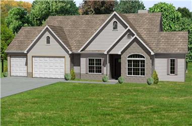 3-Bedroom, 1862 Sq Ft Country Home Plan - 148-1049 - Main Exterior