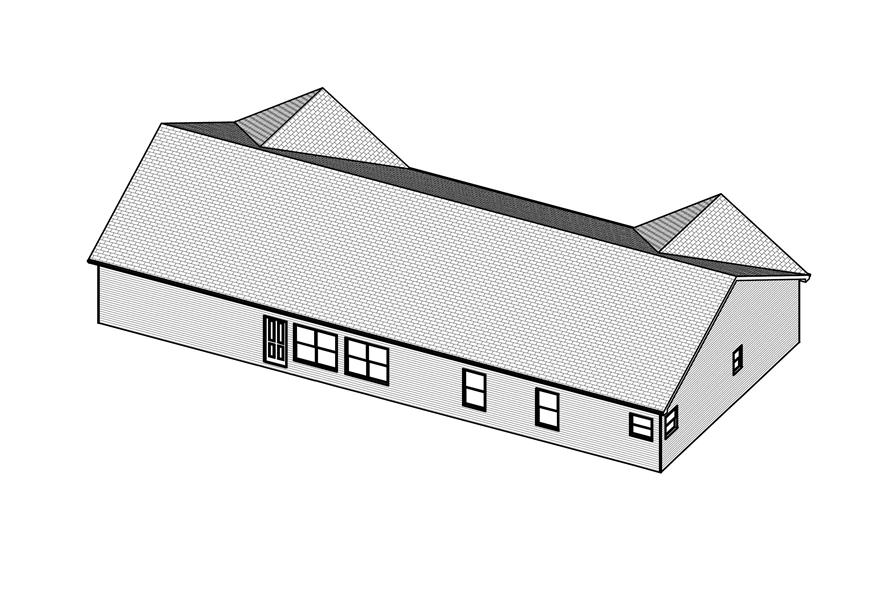 Home Plan 3D Image of this 4-Bedroom,2016 Sq Ft Plan -2016
