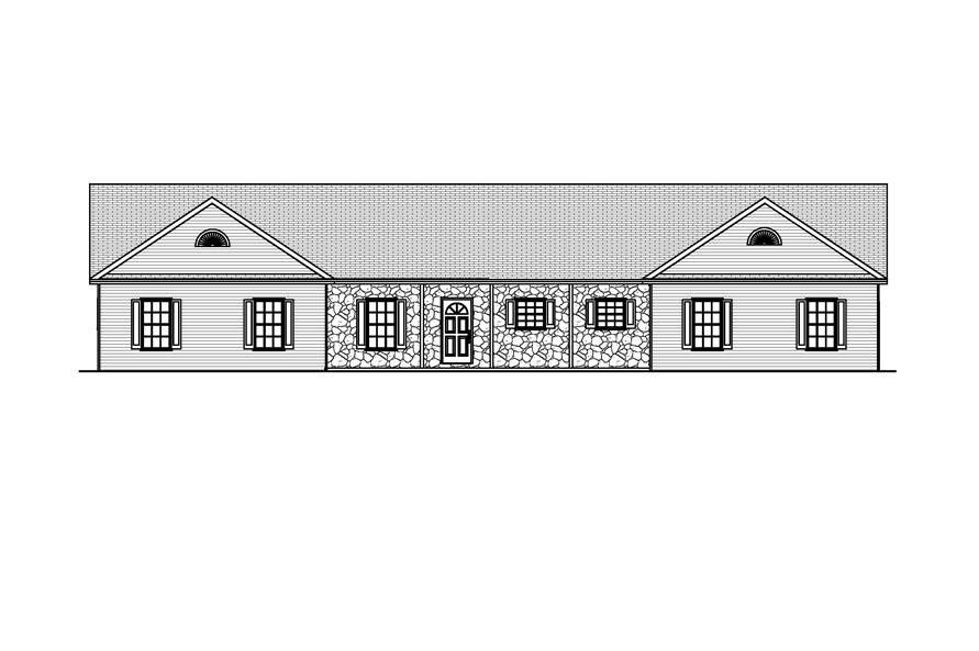 Home Plan Front Elevation of this 4-Bedroom,2016 Sq Ft Plan -148-1052
