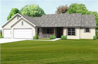 3-Bedroom, 2270 Sq Ft Country House Plan - 148-1054 - Front Exterior