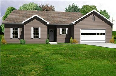 3-Bedroom, 1806 Sq Ft Country Home Plan - 148-1055 - Main Exterior