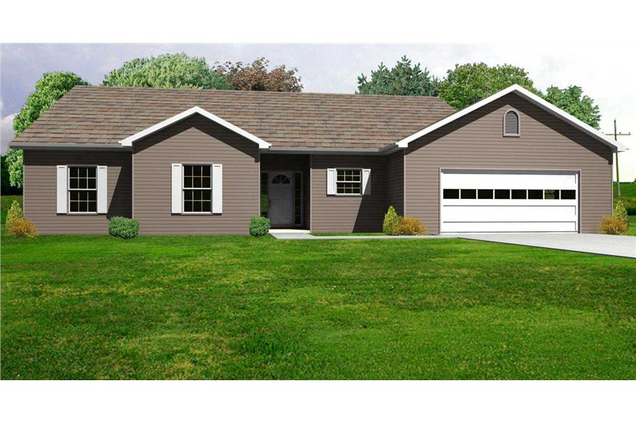 This is the computer rendering of these Traditional Ranch Homeplans