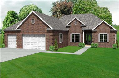 3-Bedroom, 1968 Sq Ft Country House Plan - 148-1057 - Front Exterior