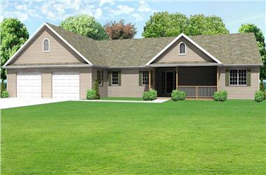 3-Bedroom, 2322 Sq Ft Country Home Plan - 148-1059 - Main Exterior