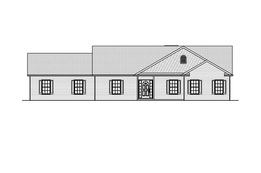 Home Plan Front Elevation of this 2-Bedroom,1664 Sq Ft Plan -148-1060