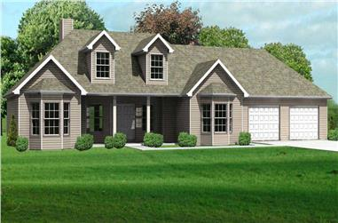 3-Bedroom, 1528 Sq Ft Country Home Plan - 148-1062 - Main Exterior