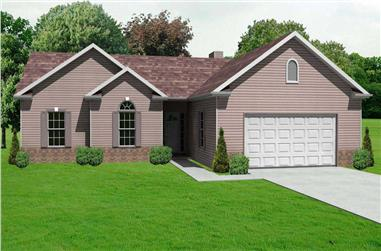 3-Bedroom, 1620 Sq Ft Country House Plan - 148-1065 - Front Exterior