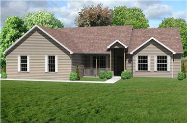 3-Bedroom, 2122 Sq Ft Country House Plan - 148-1066 - Front Exterior
