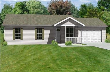 3-Bedroom, 1176 Sq Ft Country House Plan - 148-1067 - Front Exterior