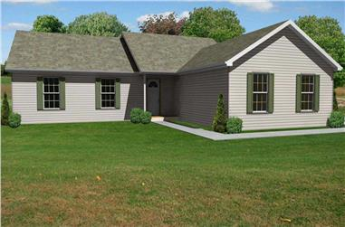 3-Bedroom, 1620 Sq Ft Country House Plan - 148-1072 - Front Exterior
