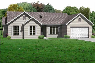 3-Bedroom, 1658 Sq Ft Country Home Plan - 148-1073 - Main Exterior