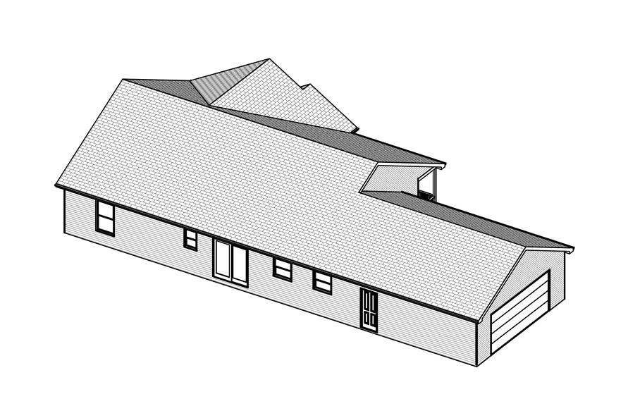 Home Plan 3D Image of this 3-Bedroom,1630 Sq Ft Plan -1630