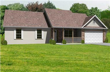 3-Bedroom, 1856 Sq Ft Country House Plan - 148-1083 - Front Exterior