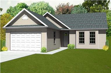 3-Bedroom, 1216 Sq Ft Country House Plan - 148-1084 - Front Exterior
