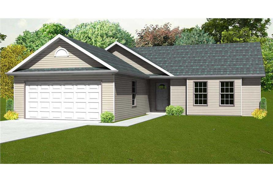 This is the front elevation for these Small Homeplans.