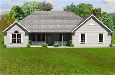 3-Bedroom, 2158 Sq Ft Country Home Plan - 148-1089 - Main Exterior