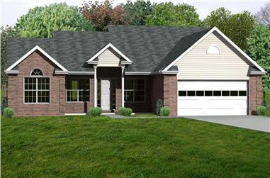 3-Bedroom, 2078 Sq Ft Country Home Plan - 148-1093 - Main Exterior