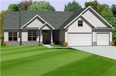 3-Bedroom, 1994 Sq Ft Country Home Plan - 148-1094 - Main Exterior