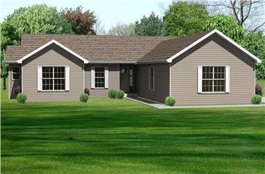 3-Bedroom, 1816 Sq Ft Country Home Plan - 148-1095 - Main Exterior