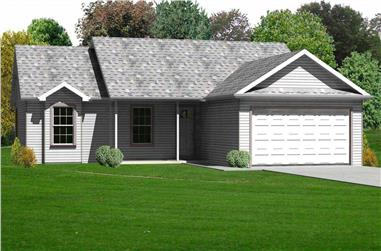 3-Bedroom, 1418 Sq Ft Country Home Plan - 148-1096 - Main Exterior