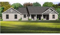 This is the computer rendering of these Ranch Houseplans.