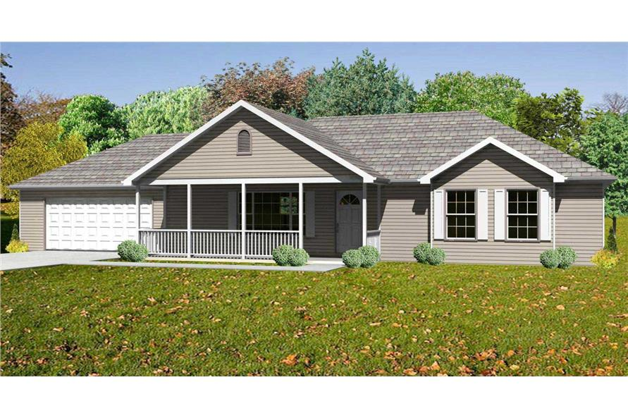 This is a 3D rendering of these Traditional Home Plans.