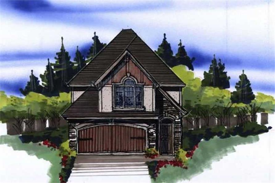 This image shows the front style of the home.