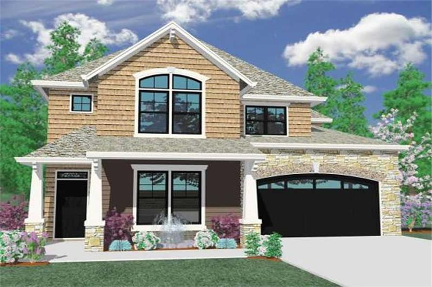 4-Bedroom, 3644 Sq Ft Craftsman Home Plan - 149-1002 - Main Exterior