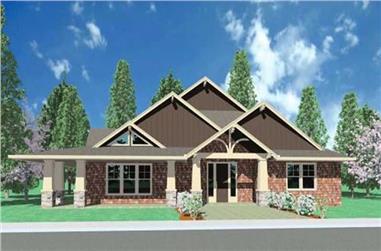 3-Bedroom, 2268 Sq Ft Ranch Home Plan - 149-1006 - Main Exterior