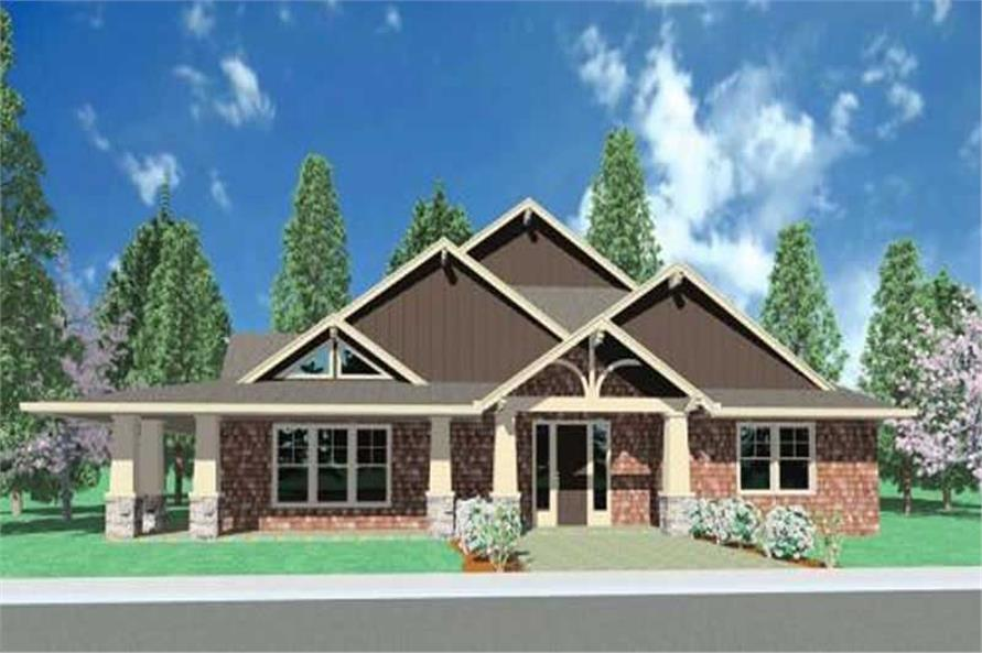 3-Bedroom, 2268 Sq Ft Ranch Home Plan - 149-1006 - Main Exterior