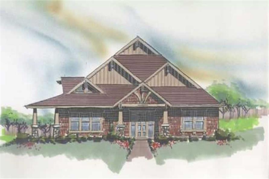 Home Plan Front Elevation of this 3-Bedroom,2268 Sq Ft Plan -149-1006