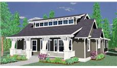 This is a computerized rendering of these Craftsman House Plans.