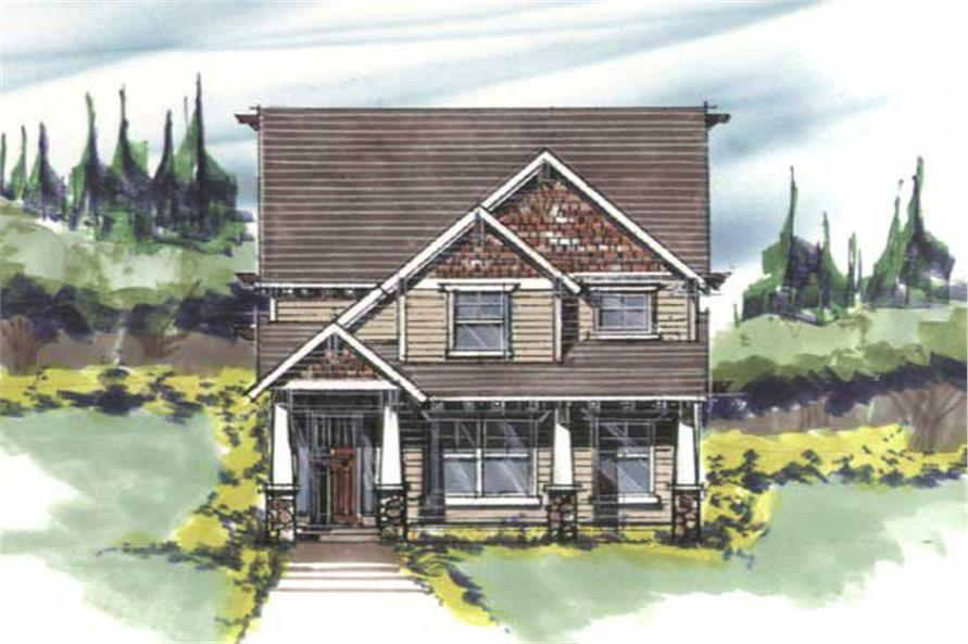 Home Plan Front Elevation of this 3-Bedroom,2019 Sq Ft Plan -149-1010