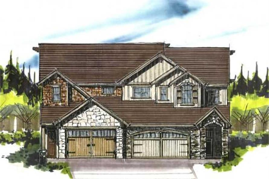 3-Bedroom, 1539 Sq Ft Country House Plan - 149-1020 - Front Exterior