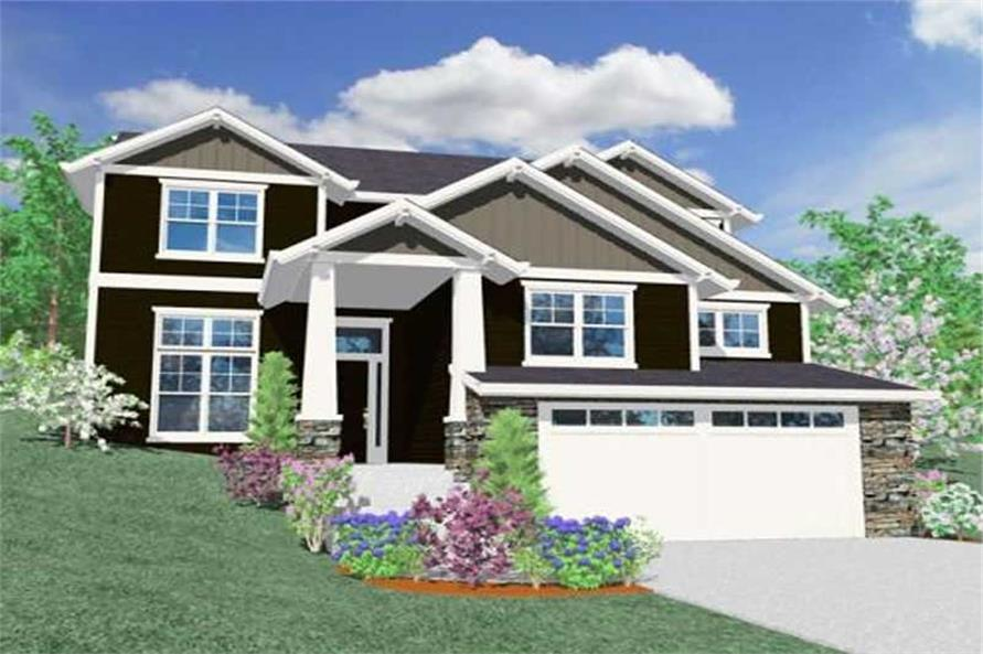 4-Bedroom, 2657 Sq Ft Country Home Plan - 149-1021 - Main Exterior