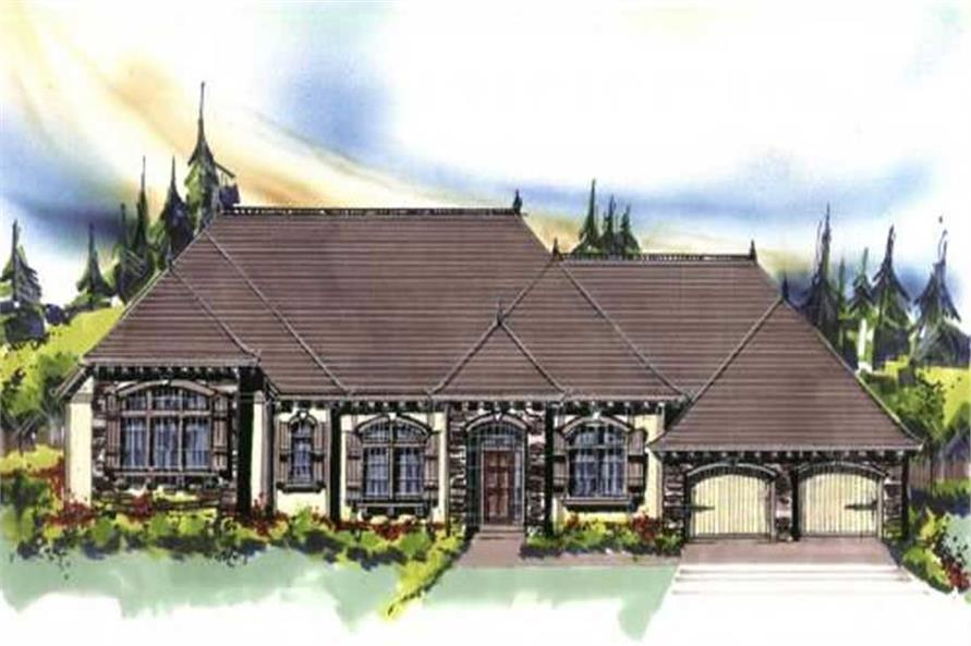3-Bedroom, 2595 Sq Ft Country Home Plan - 149-1025 - Main Exterior