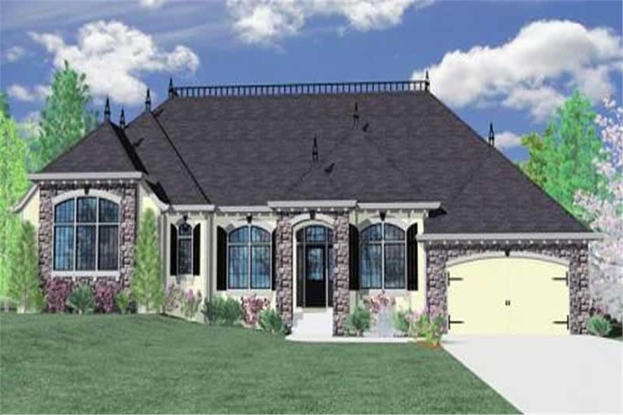Home Plan Front Elevation of this 3-Bedroom,2595 Sq Ft Plan -149-1025