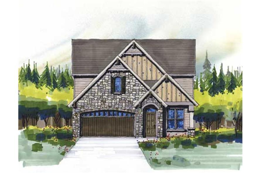 149-1027: Home Plan Front Elevation
