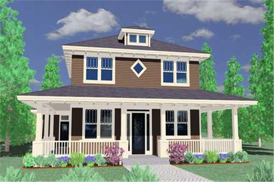 3-Bedroom, 1730 Sq Ft Country House Plan - 149-1028 - Front Exterior