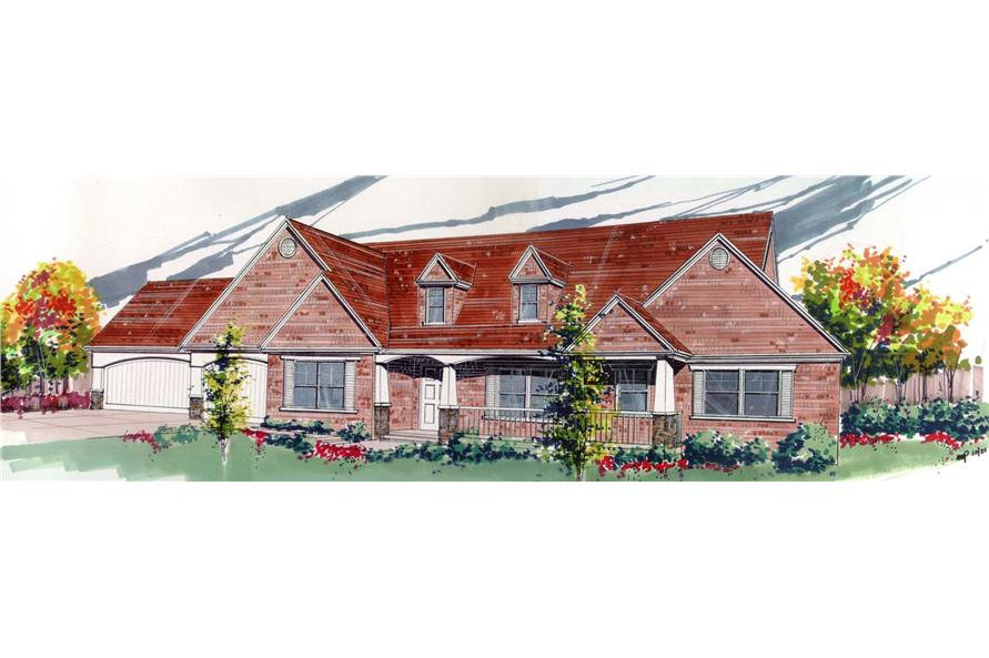 3-Bedroom, 2819 Sq Ft Country House Plan - 149-1031 - Front Exterior