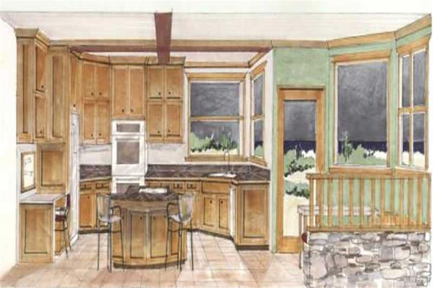 Kitchen Area of this 3-Bedroom,2819 Sq Ft Plan -2819