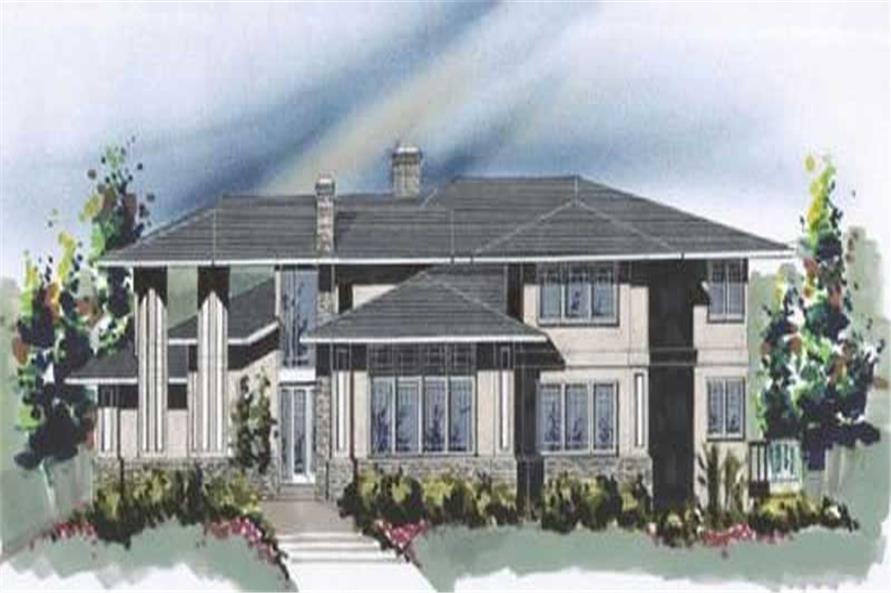 4-Bedroom, 4255 Sq Ft Contemporary House Plan - 149-1033 - Front Exterior