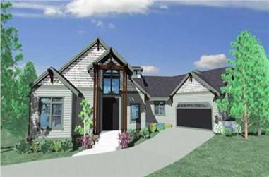 4-Bedroom, 3185 Sq Ft Craftsman Home Plan - 149-1036 - Main Exterior