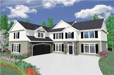 4-Bedroom, 3109 Sq Ft Country House Plan - 149-1037 - Front Exterior