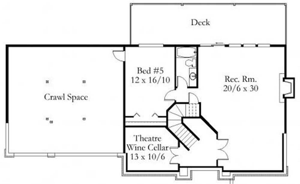 This image shows the crawl space and the rec. room.