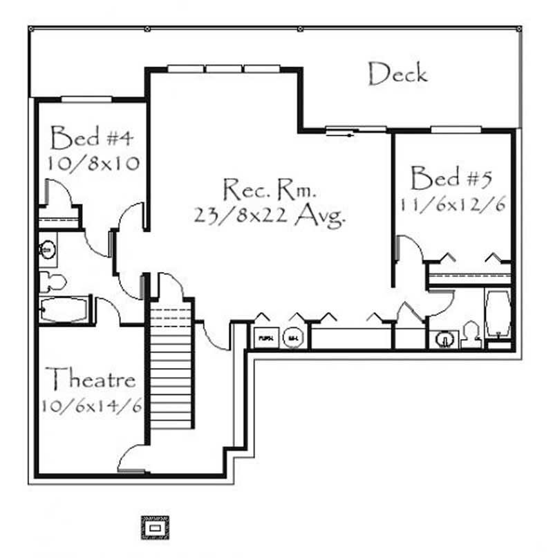 This image shows the rec. room and theater.