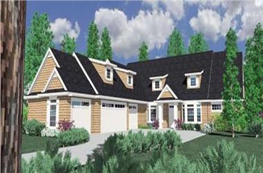 3-Bedroom, 3765 Sq Ft Country Home Plan - 149-1048 - Main Exterior